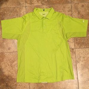 Neon green Nike golf shirt